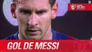 Oblak despeja el penalti, pero Messi vuelve a rematar y marca (1-0) FC Barcelona - Atlético Madrid