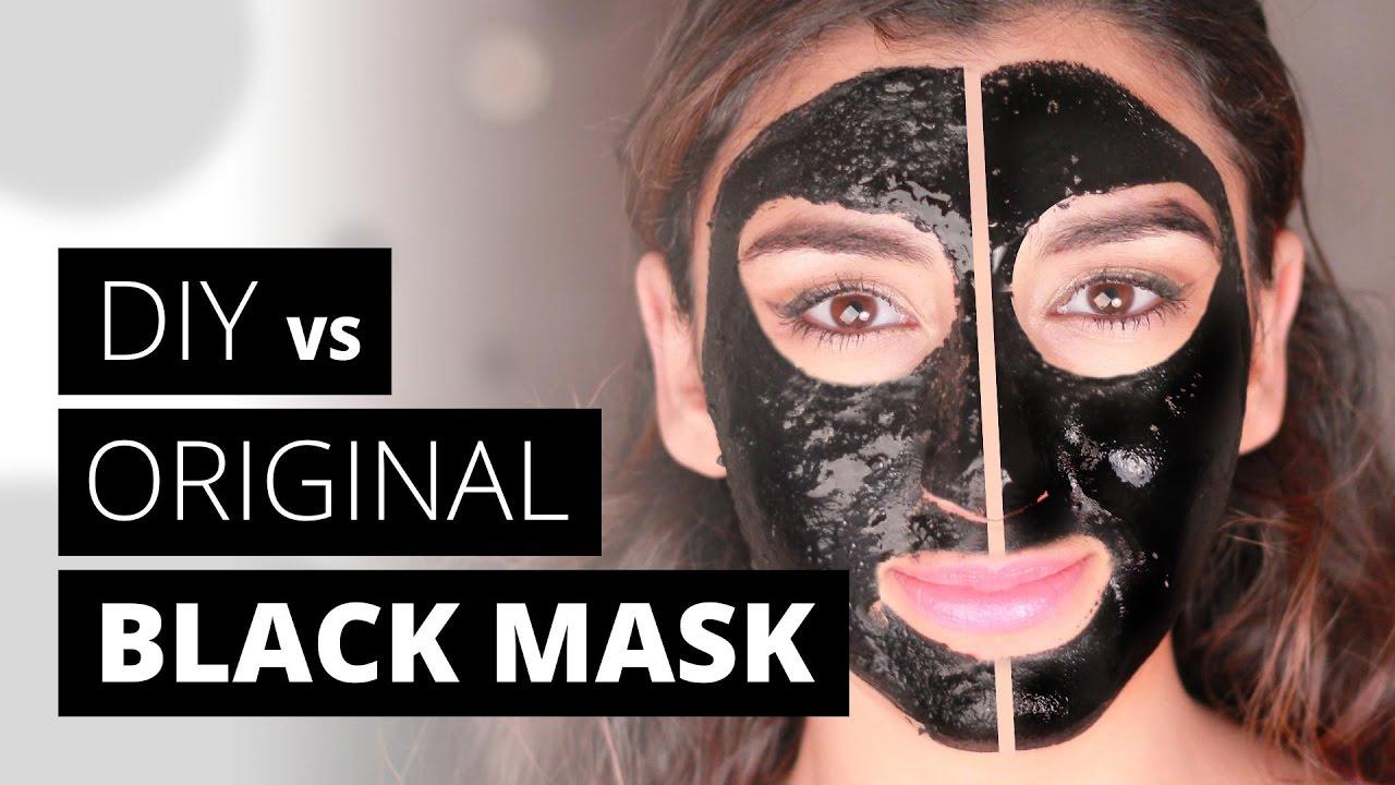 diy charcoal peel off mask