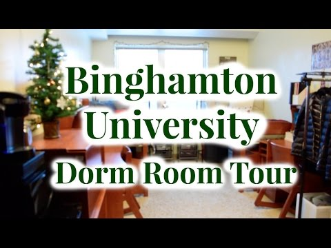 BINGHAMTON UNIVERSITY DORM ROOM NEWING TOUR (HOLIDAY EDITION)