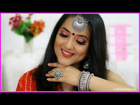 Navratri/Garba Makeup Tutorial | Indian festive makeup | Perkymegs