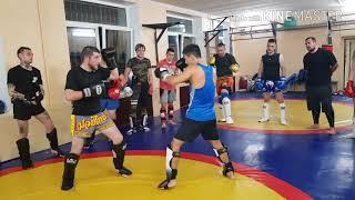 Урок тайского бокса N3 повторный удар левой ногой, Серек Уразов.