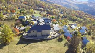 Nice Village in the Alps Drone Footage Phantom 3 standard