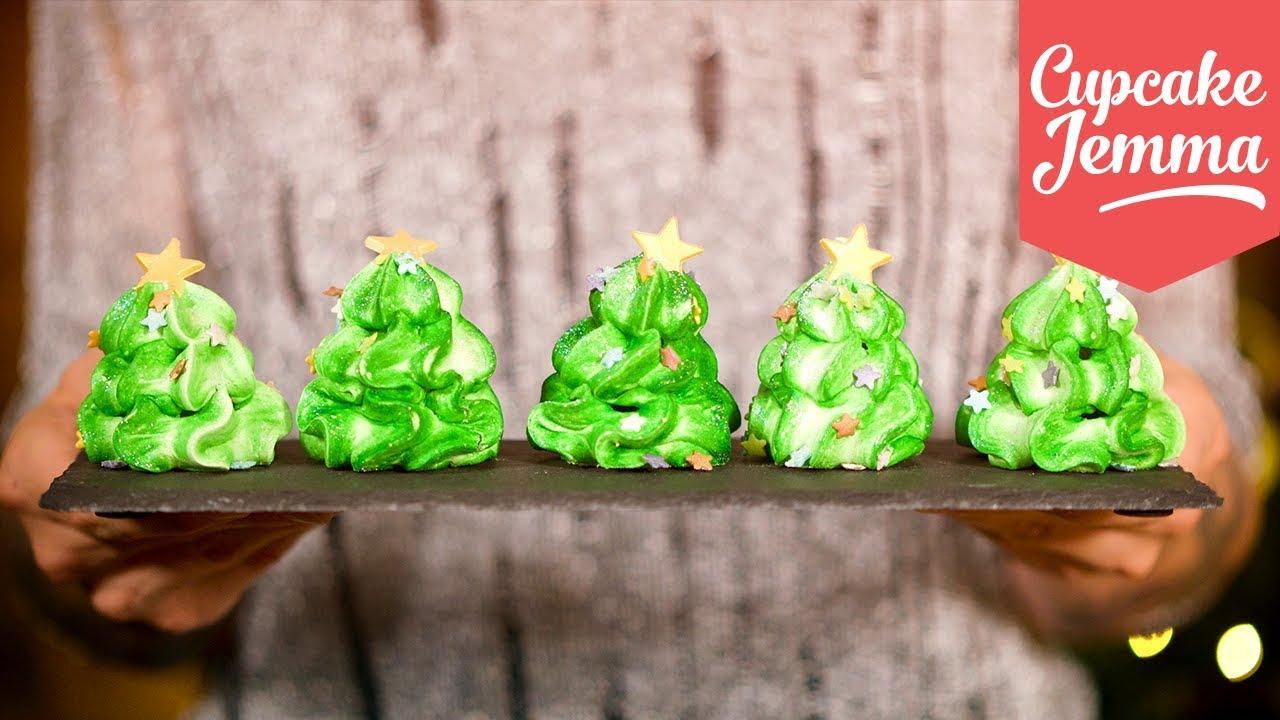 how to make christmas tree meringues cupcake jemma - Christmas Tree Meringues