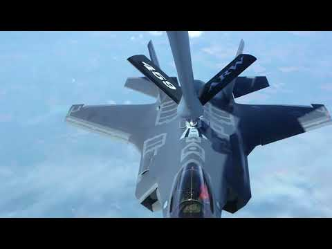 F 35A Strike Fighter First Flight To Bulgaria • Aerial View