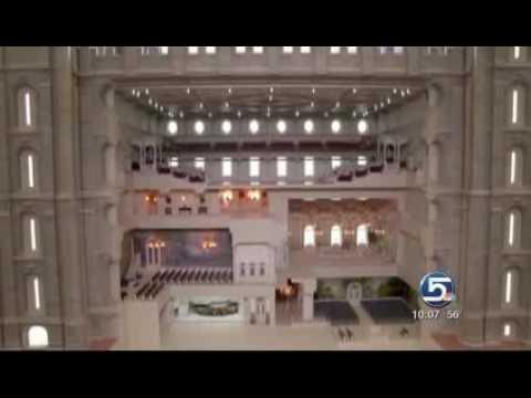 New Exhibit of Interior of Salt Lake Temple