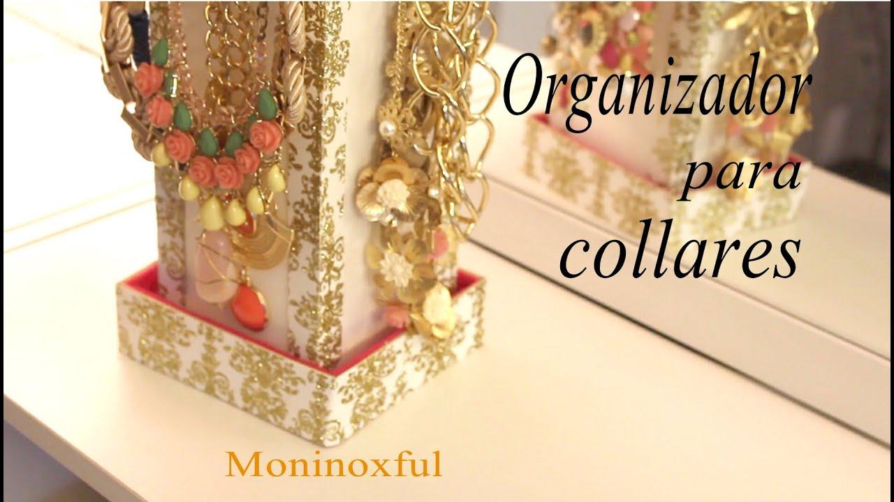 DIY Organizador para Collares  Jewelry Organizer  YouTube