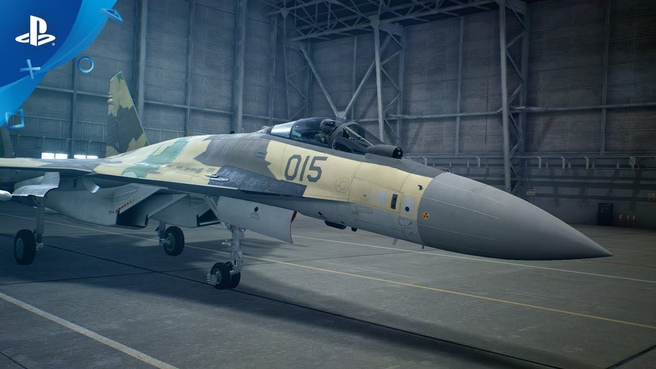 Ace Combat 7: Skies Unknown - Tráiler de avión Su-35s | PS4, PS VR