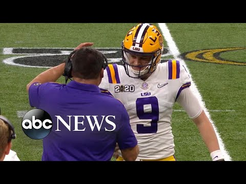 LSU quarterback shatters records with National Championship win l ABC News