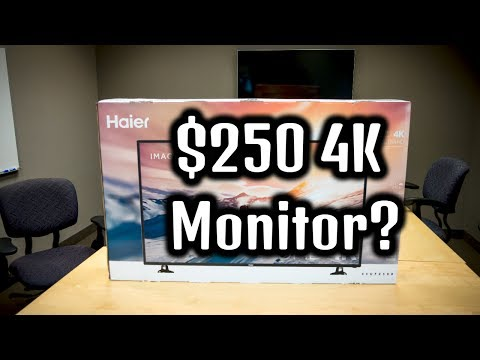 "$250 4K Monitor? Haier 43UF2500 43"" 4K Ultra-HD LED TV Review"