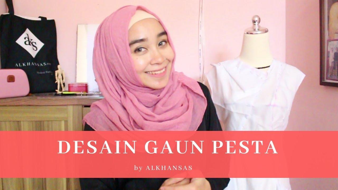 Desain Gaun Pesta Bisa Untuk Gaun Muslimah