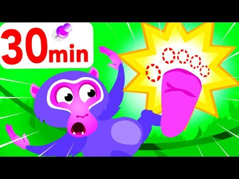 Where Are My Toes? Where Is My Bum? Help Looney Baboon | Jungle Animals by Little Angel