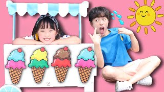 마슈의 시원한 아이스크림 가게 놀이ICE CREAM CART! Kid Selling Ice Cream, Popsicle, and Sweets 마슈토이 Mashu ToysReview