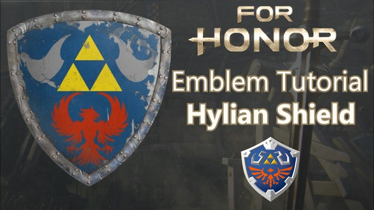 for honor hylian shield emblem tutorial youtube