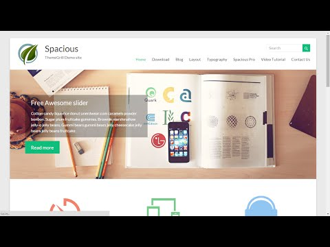 Spacious, free WordPress theme – overview, installation and customization