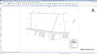 QuickStart lesson 3 - Importing a site plan