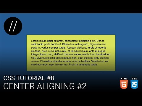 CSS Tutorial #8 — Center Aligning #2  [UP/TO/DATE] thumbnail