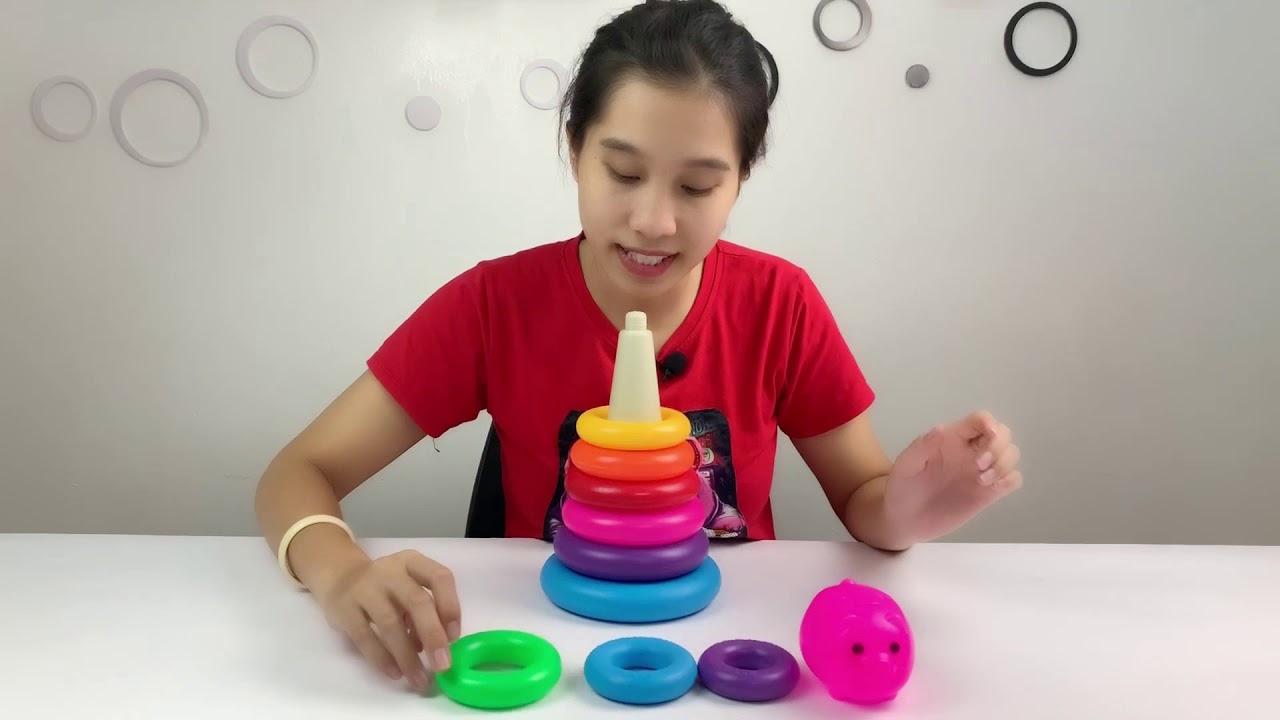Dạy Bé Học Màu Sắc Với Tháp Cầu Vồng Ngộ Nghĩnh ❤ Đồ Chơi Cho Bé - YouTube