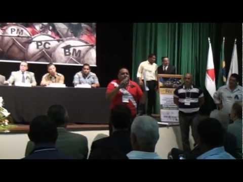 Pres. da ACSPMBMPA, Cb Xavier, discursa em MG no 3º Forum de entidades e diz para todos seu unirem