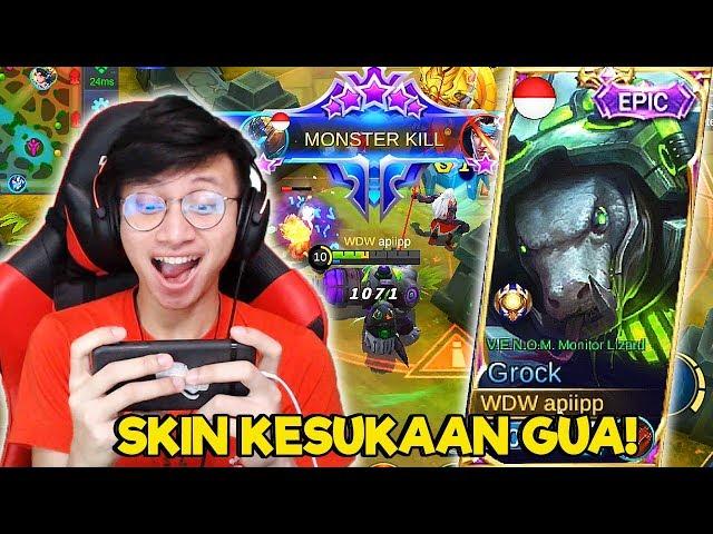 SKIN EPIC GROCK TERBAU VENOM LIZARD KACAU BGT ! - MOBILE LEGENDS INDONESIA