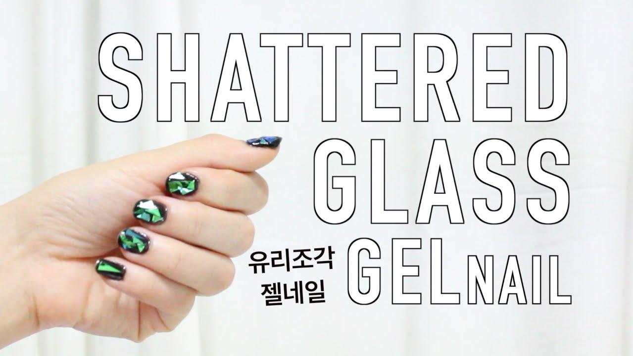 DIY Korea\'s Shattered Glass Nail Art - YouTube