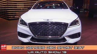 2020 Genesis G80 Sport 3.3T - Exterior And Interior - LA Auto Show 2019