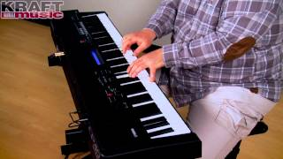 kraft music yamaha cp40 stage piano performance with adam berzowski