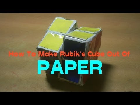 How To Make Paper 2x2 Rubik's Cube