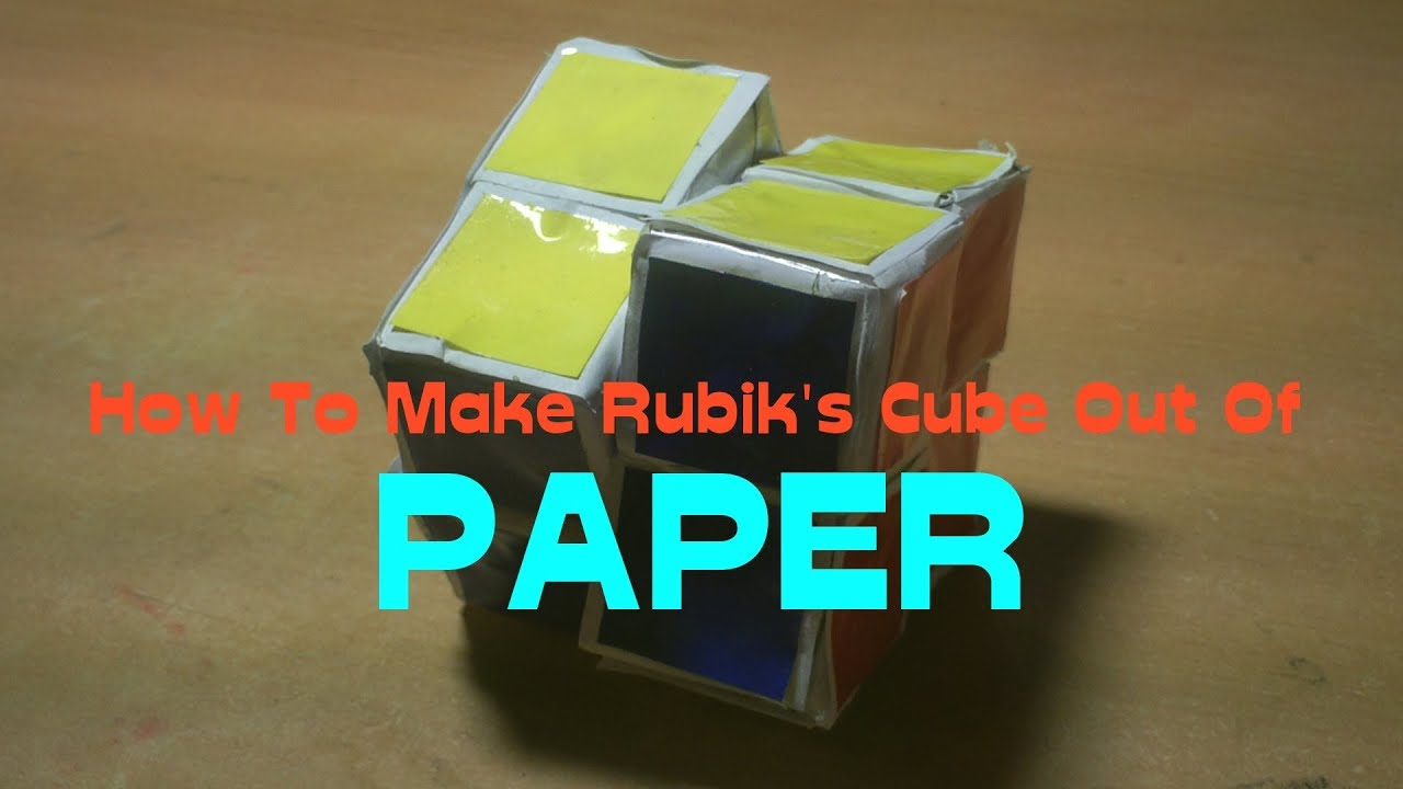 how to make paper 2x2 rubik 39 s cube youtube. Black Bedroom Furniture Sets. Home Design Ideas
