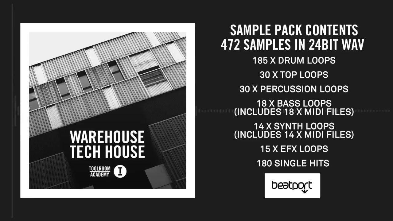 Toolroom Academy: Warehouse Tech House - Sample Pack - YouTube