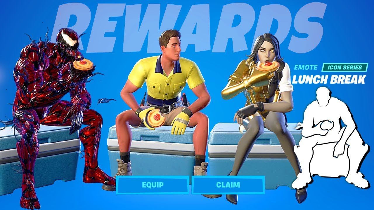 LazarBeam Emote Fornite Lunch Break with Legendary Skins! Lazar & Fresh Super Knocknack Cup rewards