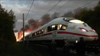 Nach ICE-Brand bleibt Strecke das gesamte Wochenende gesperrt - viele Züge betroffen