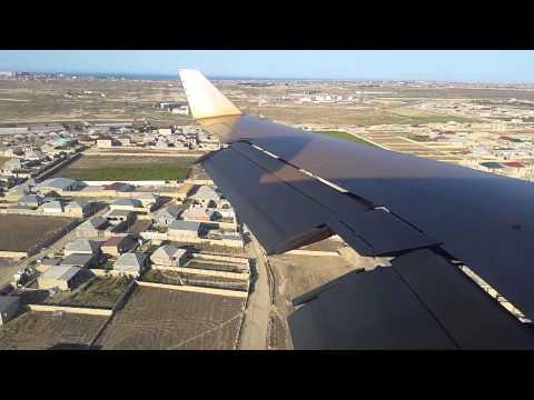 Silk Way Business Aviation B727-200 Landing at Baku, Azerbaijan - Window View