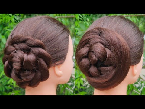 Quick And Easy Juda Hairstyle For Everyday || Simple Hairstyle || Cute Girl Hairstyle || Bun || thumbnail