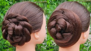 Quick And Easy Juda Hairstyle For Everyday || Simple Hairstyle || Cute Girl Hairstyle || Bun ||