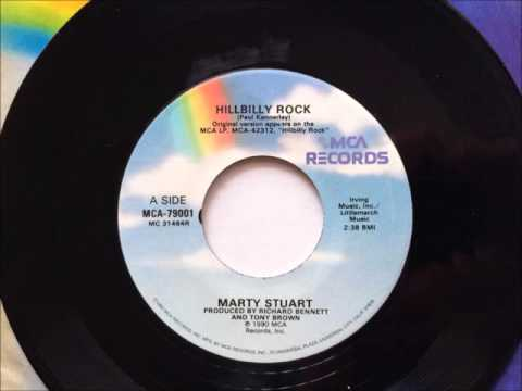 Hillbilly Rock , Marty Stuart , 1990 Vinyl 45RPM