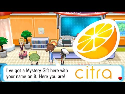 How To Receive Mystery Gifts In Any 3DS Pokemon Games In CITRA.
