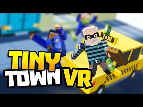 VIRTUAL REALITY BUILDER , CREATE LEGO WORLDS! Let's Play Tiny Town VR Gameplay Part 1 - VR HTC Vive
