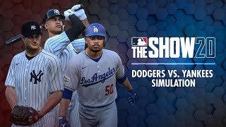 Dodgers vs. Yankees MLB The Show 20 Simulation (Bellinger, Betts, Stanton all GO DEEP in crazy game)