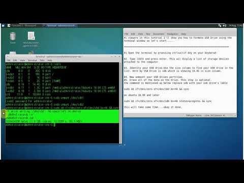 How to Format a USB Flash Drive in Ubuntu using terminal