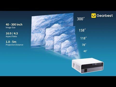 Alfawise Q9 BD1080P 40-300 inch Mirroring Screen 4K Smart Projector- Gearbest.com