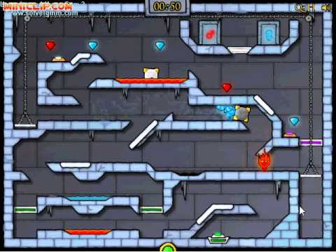Miniclip Ice Temple [FireBoy & WaterGirl] Level 30 Guide