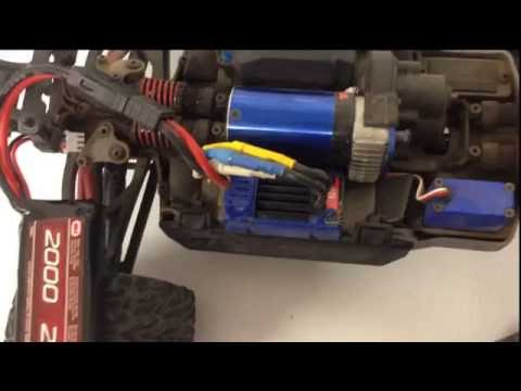 Traxxas E Revo 1-16...How to change your ESC to LiPo cutoff mode