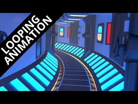 Blender tutorial: Infinite looping Sci-Fi corridor animation