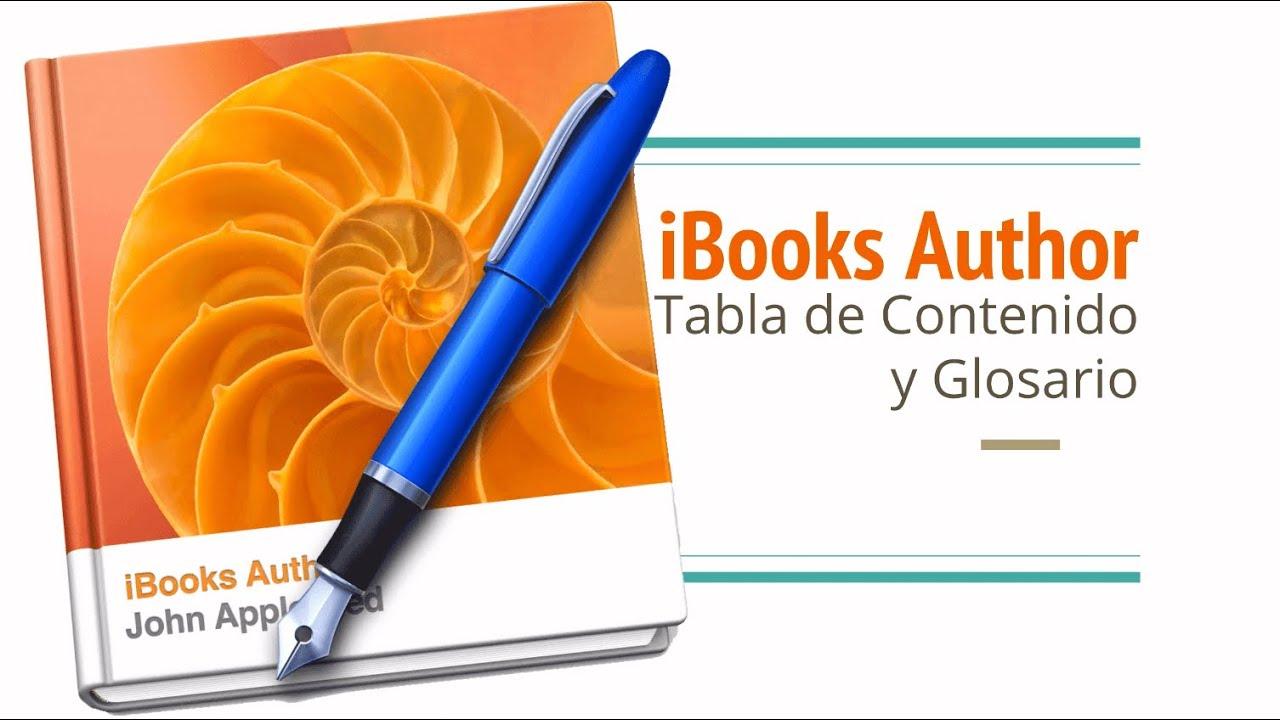 Tabla de contenido y Glosario en iBooks Author - YouTube
