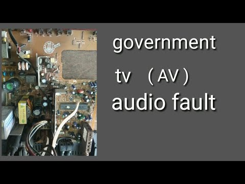 How To Repair Government Tv Av Audio Fault