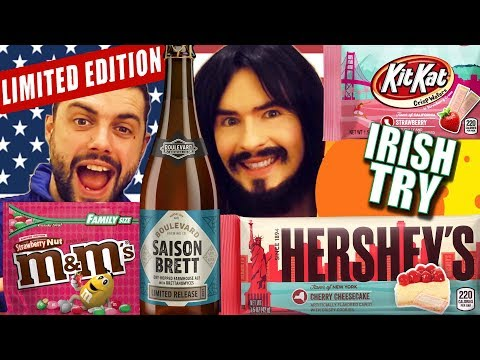Irish People Taste Test American 'Limited Edition' - BEER & CANDY!!