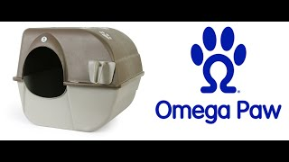 Omega Paw Roll'n Clean Self-Cleaning Cat Litter Box How to Use thumbnail