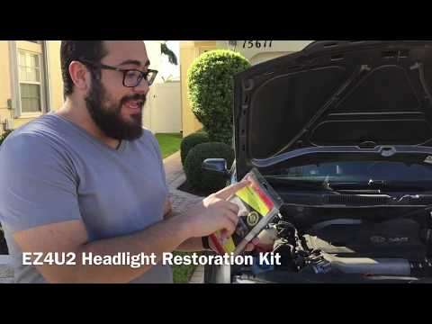 Affordable easy to use headlight restoration kit and