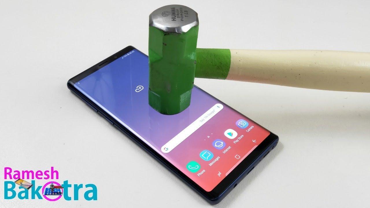 reputable site 14339 cca72 Samsung Galaxy Note 9 Screen Scratch Test Gorilla Glass