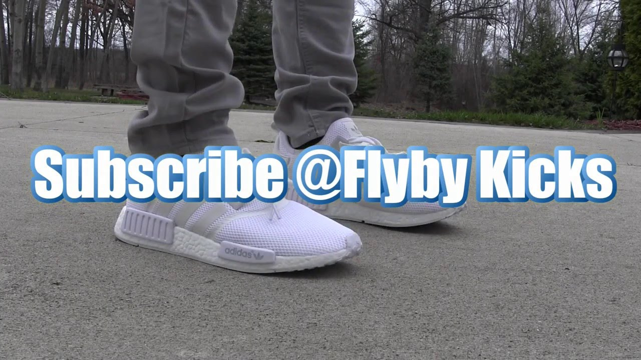 vtxerx All white Adidas NMD review + On-foot - YouTube
